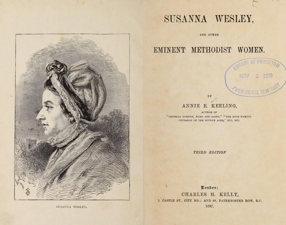 Susanna Wesley and other eminent Methodist women